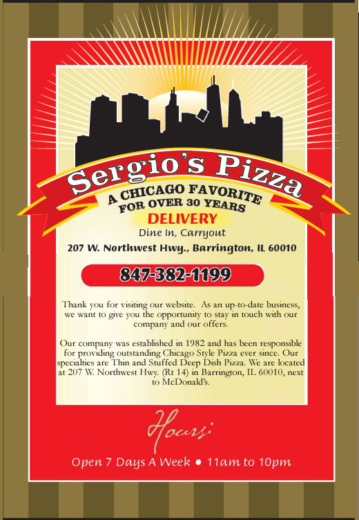 Welcome to Sergio's in Barrington IL.
